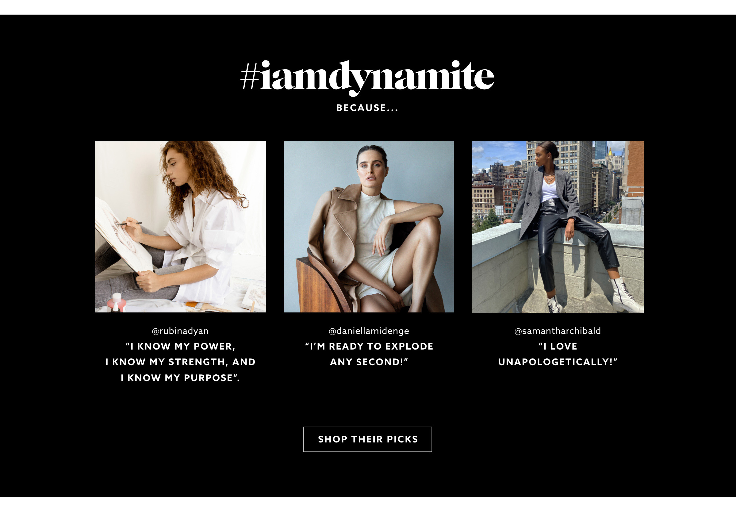 Join the muse project. Tell us why you're Dynamite on instagram for a chance to win a new wardrobe worth $1000.
