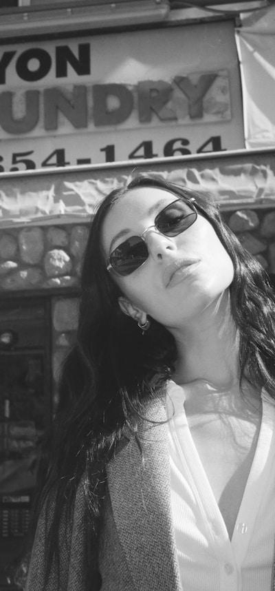 Marta outside in sunglasses