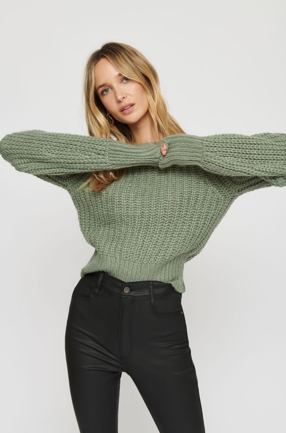 ruffle-lace-up-blouse